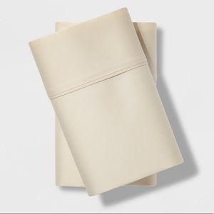 King 500 TC Tri-Ease Pillowcase Set Cream